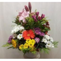 Centro de flores primaverales