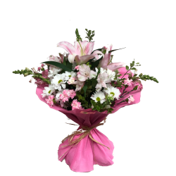Bouquet en rosa y blanco