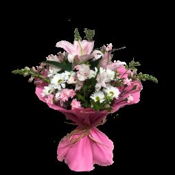 Bouquet en rosa y blanco